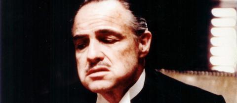 """Marlon Brando als Don Corleone in """"Der Pate"""""""