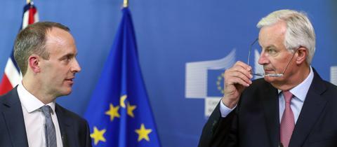 Brexit-Minister Raab und EU-Chefunterhändler Barnier