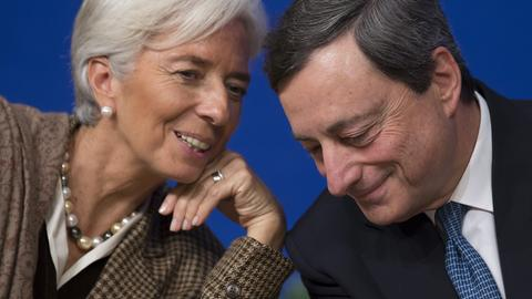 Christine Lagarde und Mario Draghi