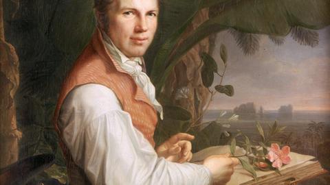 Alexander von Humboldt bei der Arbeit