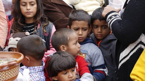 Kinder an der Grenze von Mexiko zu den USA