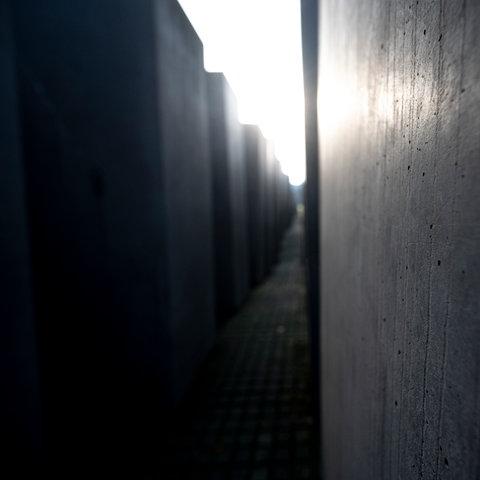 Stelenfeld des Denkmals für die ermordeten Juden Europas in Berlin