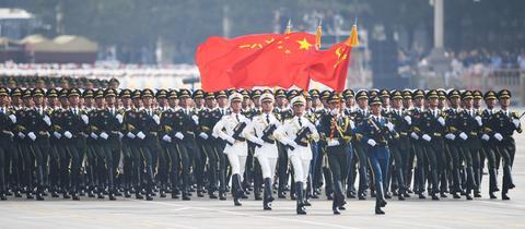 Militärmarsch zu 70. Jahre Volksrepublik China