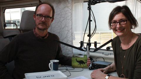 Carl von Siemens im Gespräch mit Mariela Milkowa auf der Leipziger Buchmesse