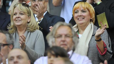 Claudia Roth bei Frauen-WM 2011 Frankreich - Deutschland