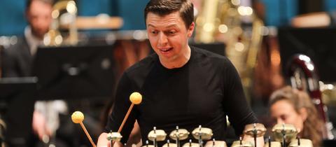 Martin Grubinger bei einem Konzert in Salzburg