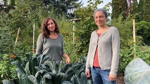 Die Gemüseheldinnen Juliane Ranck und Laura Setzer