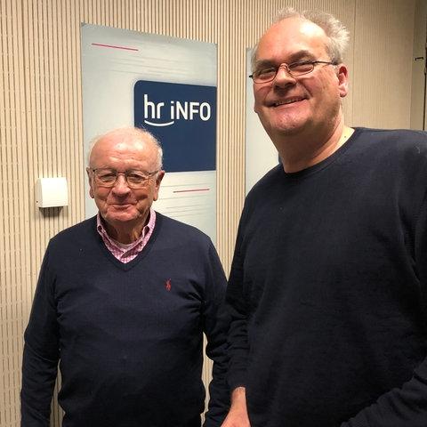 Horst Klee (links) und Landtagskorrespondent Christopher Plass