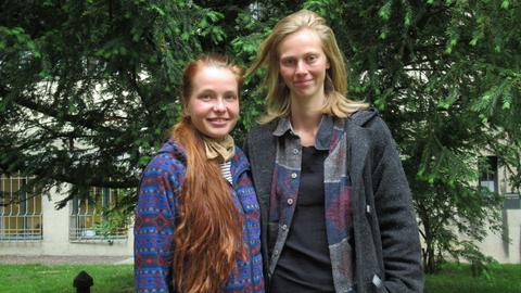 Die beiden Lebensmittelretterinnen Caro und Franzi