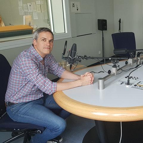 Stephan Thome und Oliver Günther im hr-iNFO-Studio