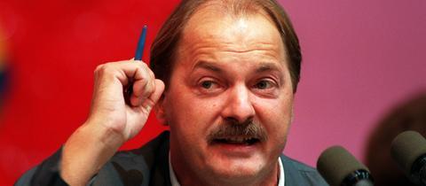 Hubert Kleinert auf dem Grünen-Parteitag in Bremen 1995.