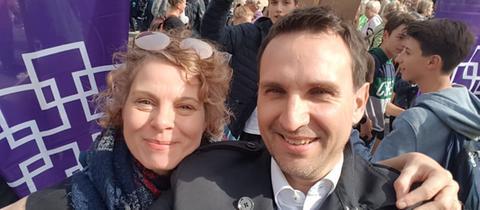Pia Baumann und Rüdiger Kohl, Pfarrerin und Pfarrer in der Evangelischen Gemeinde Frankfurt Bockenheim