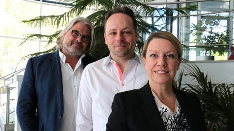 Sabine und Daniel Röder mit Stefan Bücheler