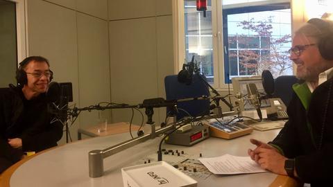 Ralf Groene im hr-iNFO-Studio mit Stefan Bücheler