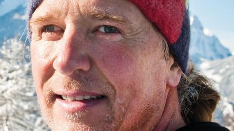 Andy Holzer bei einer Bergbesteigung