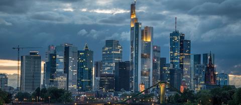 Die Bankentürme der Frankfurter Skyline