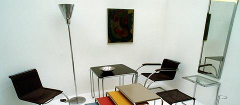 Stahlrohrmöbel von Marcel Breuer und Ludwig Mies van der Rohe