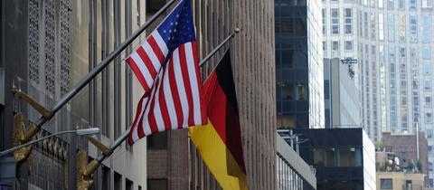 Flagge Deutschland USA