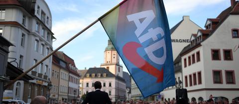 Eine Wahlkampfveranstaltung der AfD in Sachsen