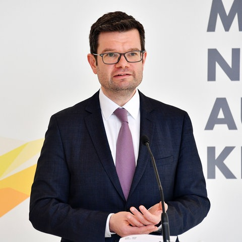 FDP-Fraktions-Geschäftsführer Marco Buschmann bei einer Pressekonferenz