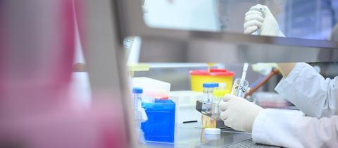 In einem Labor in Stuttgart werden Tests zum Coronavirus durchgeführt.