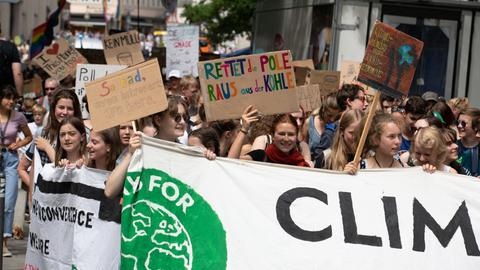 "Eine ""Fridays for Future""-Demo"