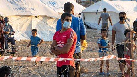 Das neue Flüchtlingscamp in Griechenland