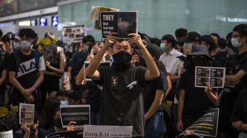 Der Protest am Flughafen Hongkong
