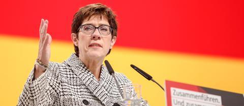 Annegret Kram-Karrenbauer bei ihrer Rede auf dem CDU-Parteitag