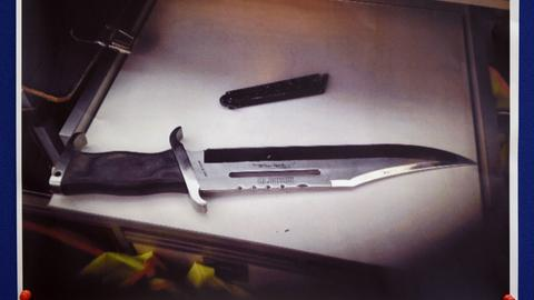 Ein Foto des Messers, mit dem auf Henriette Reker eingestochen wurde.
