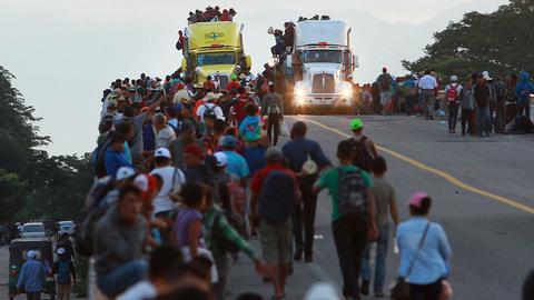 Tausende Menschen sind auf dem Weg Richtung Vereinigte Staaten von Amerika.