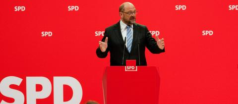 Martin Schulz auf einer SPD-Pressekonferenz