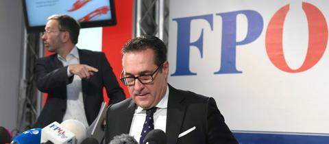 Heinz-Christian Strache bei einer Pressekonferenz