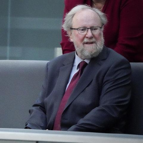 Wolfang Thierse ist am 2. Oktober 2020 zu Gast im deutschen Bundestag