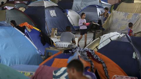 Eine Flüchtlingsunterkunft in Boa Vista.