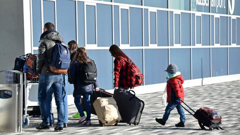 Flüchtlinge am Airport Kassel