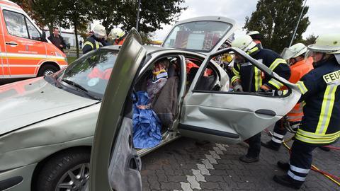 Ersthelfer bei einem Unfall