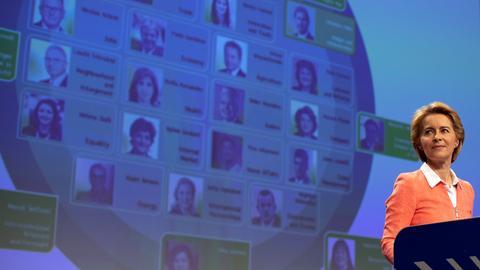 EU-Kommissionspräsidentin Ursula von der Leyen stellt ihre Wunschkandidaten für die EU-Kommission vor