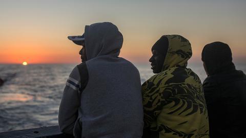 Bootsflüchtlinge im Mittelmeer