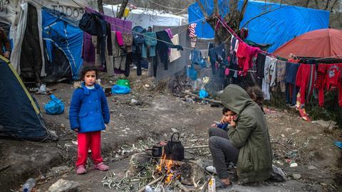 Flüchtlingslager auf Lesbos