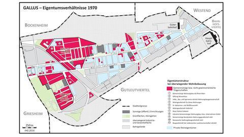 Karte des Gallusviertels 1970