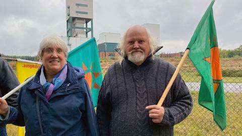 Demonstranten in Gorleben