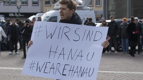 Mahnwache in Hanau