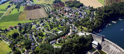Luftaufnahme Edersee in Hessen