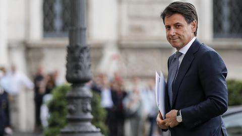 Giuseppe Conte bei Staatspräsident Mattarella