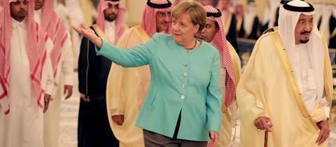 Angela Merkel trifft König Salman