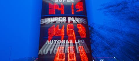 Eine Tankstelle in Schwerin