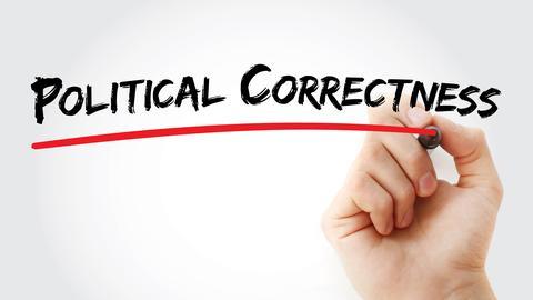 Schriftzug politisch korrekt