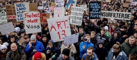 Proteste gegen die Urheberrechtsreform