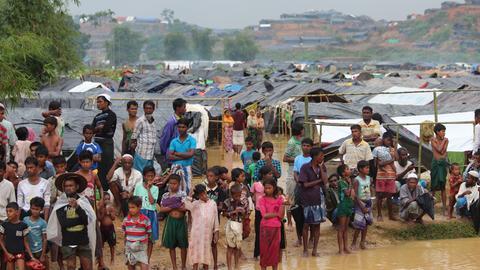 Rohingya-Flüchtlinge im Flüchtlingscamp in Bangladesch